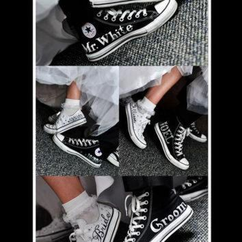 CREYONB MADE TO ORDER - Wedding Converse a14fafbe62