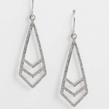 shimmering chevron drop earrings | maurices
