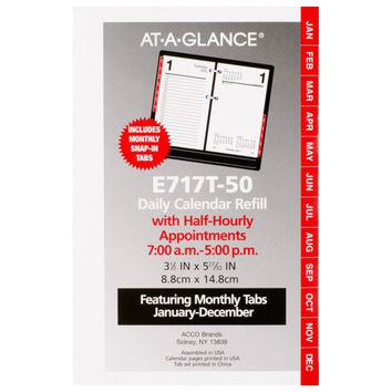 AT-A-GLANCE Daily Desk Calendar 2016 Refill 12 Months 3.5 x 6 Inch Page Size ...