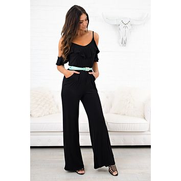 Heart Of Gold Jumpsuit (Black)