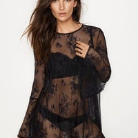 Lace & Dot Mesh Tunic - Dream Angels - Victoria's Secret