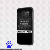 ed sheeran unpredictable for iphone 4/4s/5/5s/5c/6/6+, Samsung S3/S4/S5/S6, iPad 2/3/4/Air/Mini, iPod 4/5, Samsung Note 3/4 Case *005*