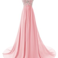 Dressystar® Sweetheart Beaded Long Prom Dress Flowing Chiffon Bridesmaid Dress