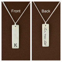 Initial Signature Memorial Necklace