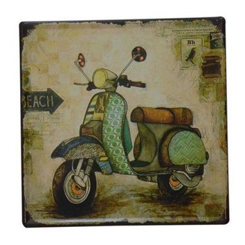 Bar Cafes Coffee Shop Wall Hanging Decoration Iron 8026