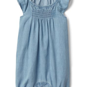Chambray flutter shorty one-piece | Gap