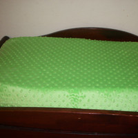 Changing Pad Cover  -  Lime Green Minky Contoured Changing Pad Cover