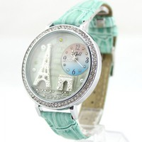 Polymer Clay Eiffel Tower Watch