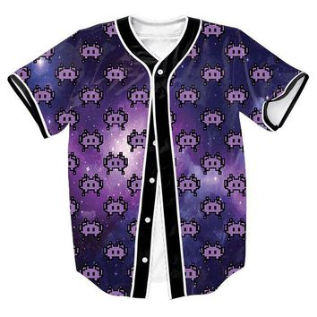 Emoji Space Invaders Unisex 3d Baseball Jersey