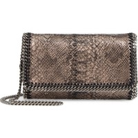 Stella McCartney Fallabella Metallic Python Print Faux Leather Crossbody Bag | Nordstrom