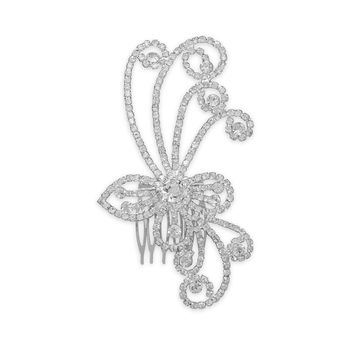 Crystal Swirl Design Fashion Hair Comb