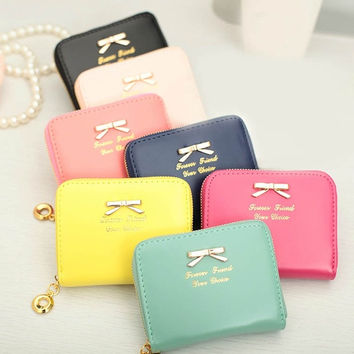 Durable Womens Mini Lovely Purse Faux Leather Lady Purse Wallet Card Holders Handbag = 1706191556