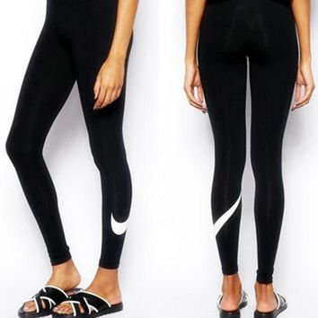 Nike Fashion Print Exercise Fitness Gym Yoga Running Sportswear Legging Day-First™
