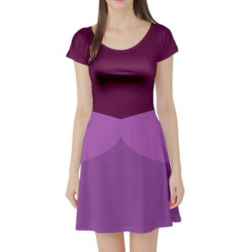 Anastasia Evil Stepsister Sleeping Beauty Inspired Short Sleeve Skater Dress