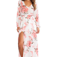Show Me Your Mumu Jocelyn Maxi Dress in Blossom Blush