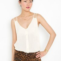 Button Up Tank - Ivory
