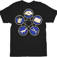 Rock Paper Scissors Lizard Spock Black T-shirt  - The Big Bang Theory - | TV Store Online