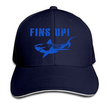 Fins Up Great White Shark Scuba Diving Cool Baseball Snapback Cap Hat