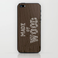 Made of wood iPhone & iPod Skin by EARTh