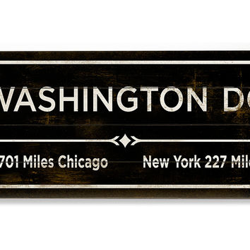"""Washington, DC"" Wall Sign, Natural, Signs"