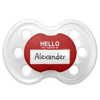 Hello My Name Is Personalized Pacifier BooginHead Pacifier