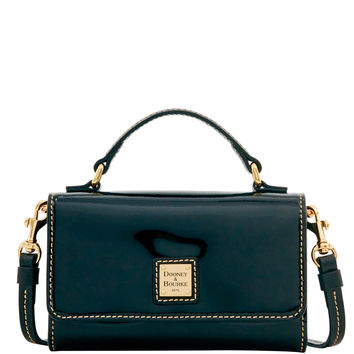 Dooney & Bourke Patent Small Mimi Crossbody (Introduced by Dooney & Bourke at $168 in Sep 2016) - Black