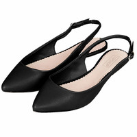 VIXEN Slingback Pointed Shoes