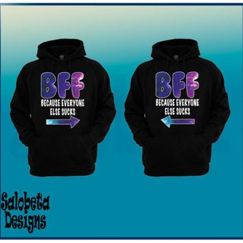BFF Best Friends matching galaxy sweaters - best friends Sweaters-BFF sweaters-BFF pullover