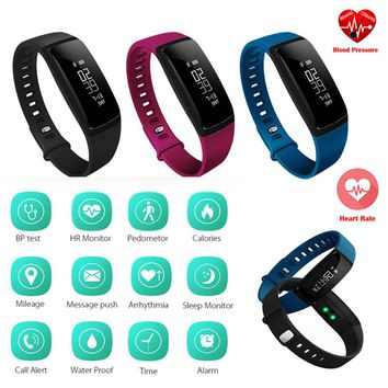 Hembeer V07 Smart Bracelet Blood Pressure Watches Smartband Heart Rate Monitor Fitness  Pulsometro Activity Tracker pk fitbits