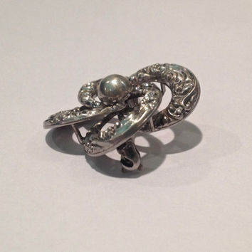 Sterling Silver Victorian Love Knot Brooch