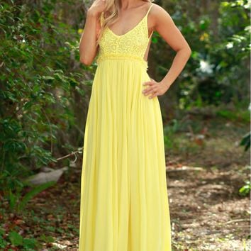 Bohemian Ball Lace Maxi Yellow