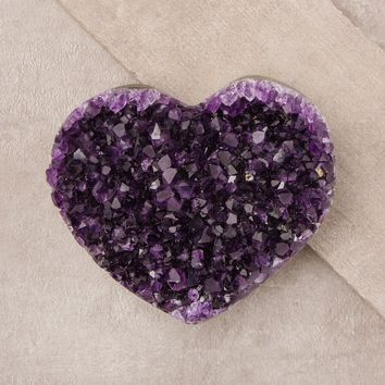 Amethyst Geode Healing Heart - One Of A Kind