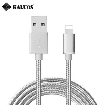 KALUOS New 0.2m 1m 1.5m 2m 3m Ultra Long High Speed Phone Charger Cord USB Data Sync Charge Cable For iPhone 5 5S 5C 6 6S 7 Plus