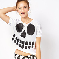 European Style Halloween Crop Tops
