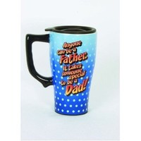Spoontiques Anyone Can be a Father Travel Mug, Blue