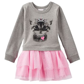 Nannette Cat Tutu Dress - Toddler Girl, Size:
