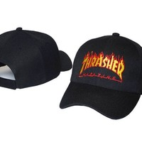Black Men Wo THRASHER Casquette cap Drake Hunting hats Scotts Cap Curved snapback caps Many brands Peaked caps 1pcs   PP
