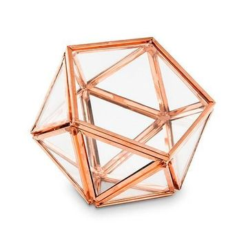 Copper Terrarium Style Ring Box