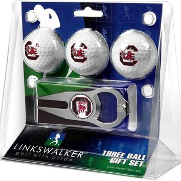 South Carolina Gamecocks Hat Trick Divot Tool 3 ProVictory Ball Gift Pack
