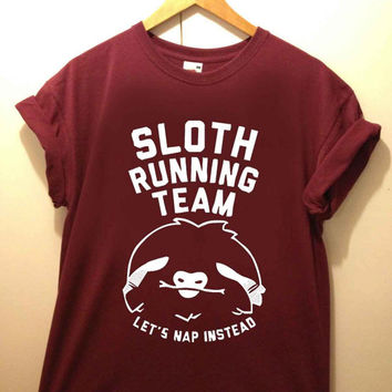 Sloth Running Team tshirt for merry christmas and helloween