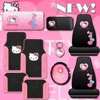 10pc Hello Kitty Car Accessories Set with New Design Mats