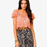 Damask Crop Top | FOREVER 21 - 2000039283