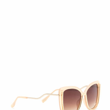 New Look Metallic Trim Sunglasses GoJane.com