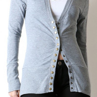 Ribbed Trim Snap Front Cardigans (several colors)