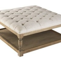 One Kings Lane - Zentique - Bridget Tufted Ottoman