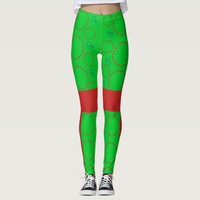 Celebration Festive Circle Pattern Leggings