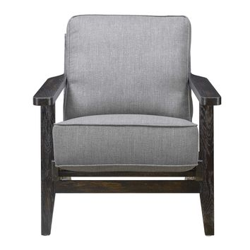 Ryder Accent Chair SLATE - ESPRESSO WOOD