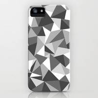 Abstraction Black and White iPhone & iPod Case by Project M