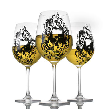 High-Grade Lead-Free Crystal Skull Wine Glass With Diamond Cup Goblet