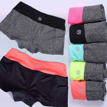 Korean Sports Jogging Yoga Shorts [10195815884]